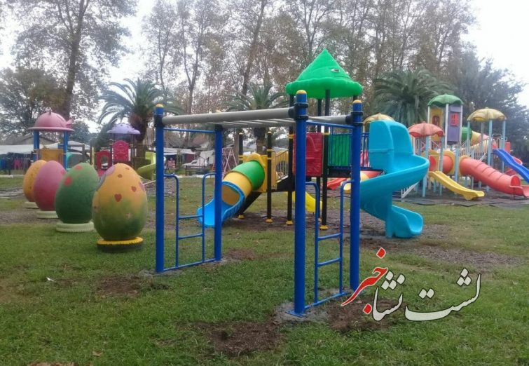 گزارش تصویری نصب وسایل بازی جدید در پارک شهر لشتنشا