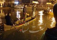 فیلم/ تلاش نیروهای امدادی پس از سقوط خودرو در رودخانه لشتنشا