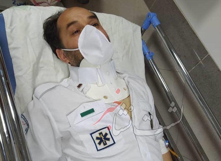ضرب و شتم تکنسین اورژانس گیلان سبب آسیب شدید وی از ناحیه سر و گردن شد!