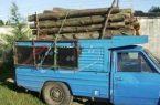 خودروی قاچاقچیان چوب در لشت نشا توقیف شد | تحویل چوبهای کشف شده به اداره منابع طبیعی